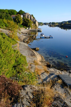 Coast and islands at Havna, near Tonsberg, Norway