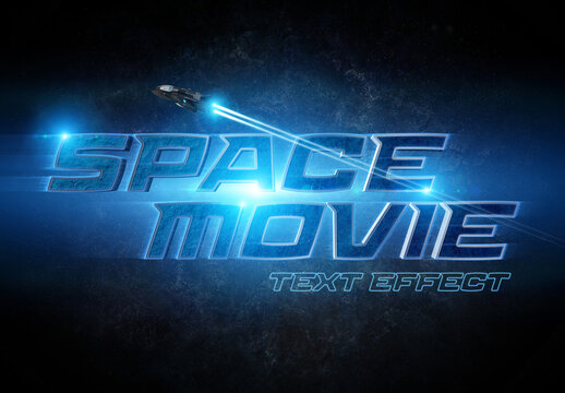 Scifi Movie Style 3D Text Effect Mockup
