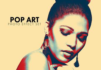 Fototapeta Pop Art Photo Effect Set obraz