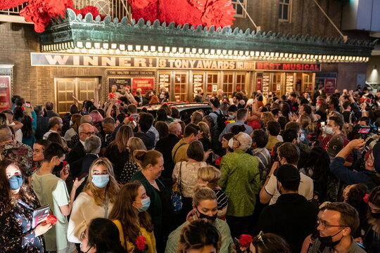 """Hadestown"" returns after Broadway's pandemic shutdown"