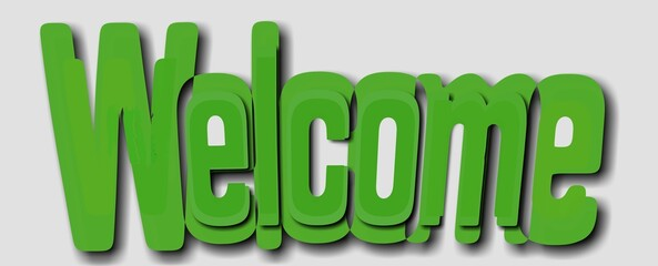 Napis Welcome 001