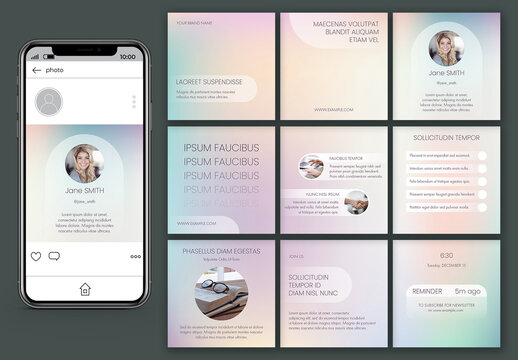 Holographic Gradient Post Layout