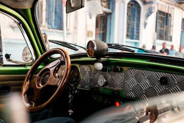 Fototapeta classic car detail obraz