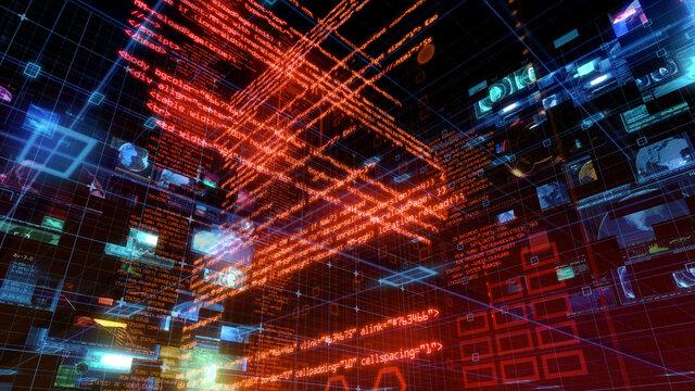 UX Technology Matrix Computer HUD Data Digital GUI Screen