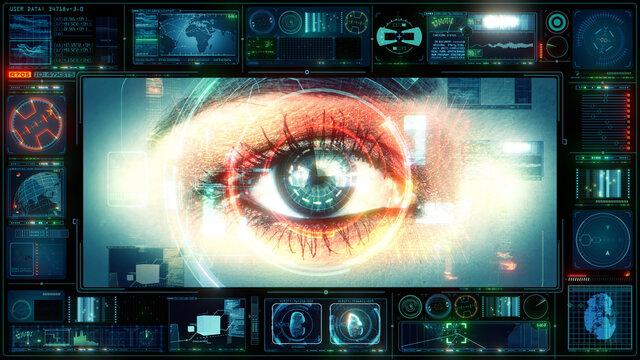 UX Technology Interface Human Eye Computer HUD Data Digital GUI Screen