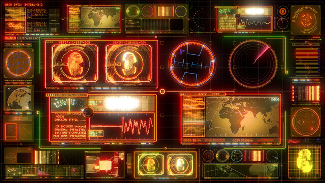 Technology Interface Computer HUD Data Digital GUI Screen