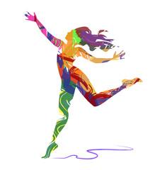 Fototapeta Illustrazione vettoriale di ballerina su sfondo bianco obraz