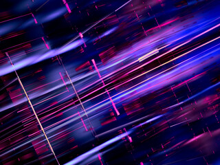 Obraz Abstract shiny background with chaotic straight lines - 3d illustration - fototapety do salonu