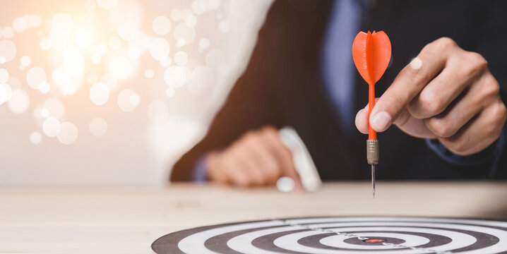 Dart is an opportunity and Dartboard is the target and goal. So both of that represent a challenge in business marketing as concept.