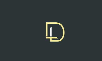 Obraz Alphabet letters Initials Monogram logo LD, DL, L and D - fototapety do salonu