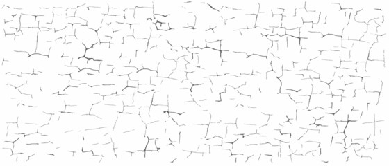 Vector editable texture for your design. The effect of cracks and scuffs on paint or plaster.