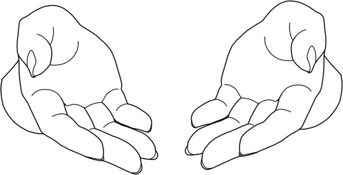 囲む手、支える手