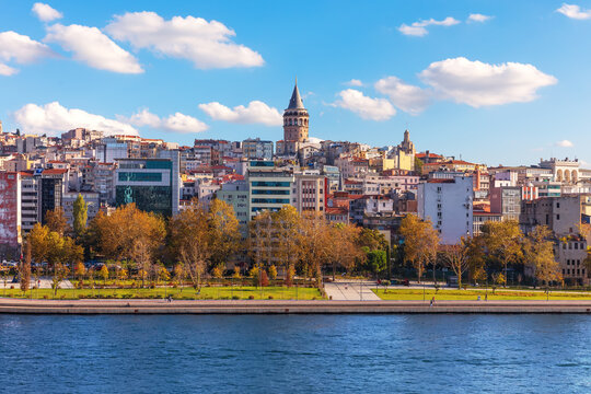 Istanbul Galata Tower over the Golden Horn, Turkey