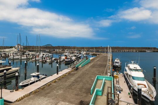 pier of Badouzi fishery harbor at keelung city in taiwan