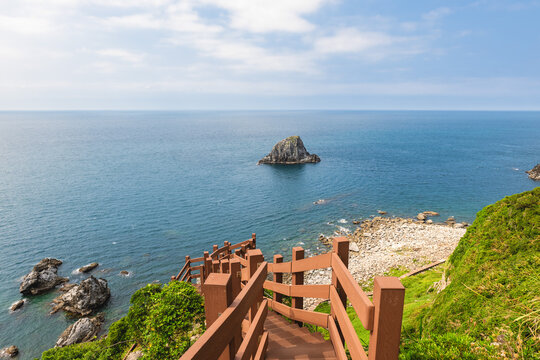 scenery from the top of keelung islet at north taiwan