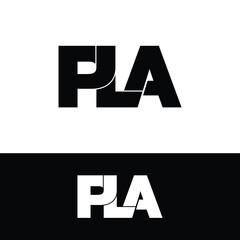 Obraz PLA letter monogram logo design vector - fototapety do salonu