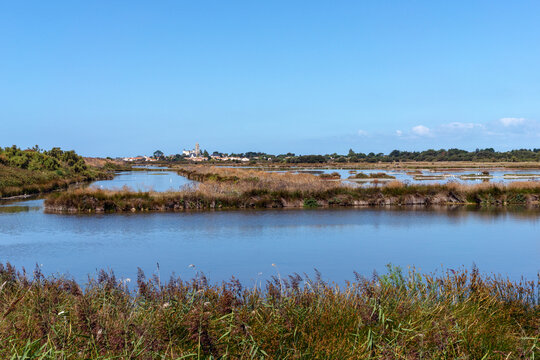 View of Noirmoutier and its church