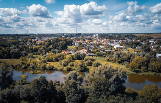 The small town of Burzenin is located on the Warta River.