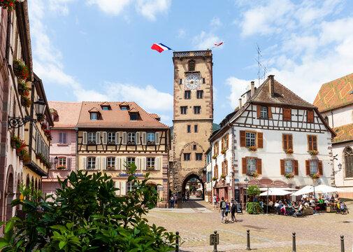 Der Tour des Bouchers in Ribeauville im Elsass Frankreich