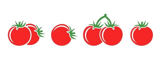 Obraz Tomato logo. Isolated tomato on white background - fototapety do salonu