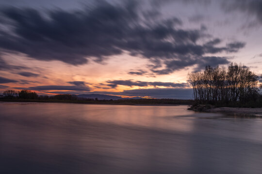 Sotos de Alfaro Natural Reserve at sunset, La Rioja, Spain