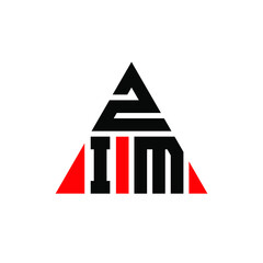 Fototapeta ZIM triangle letter logo design with triangle shape. ZIM triangle logo design monogram. ZIM triangle vector logo template with red color. ZIM triangular logo Simple, Elegant, and Luxurious Logo. ZIM  obraz
