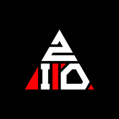 Fototapeta ZIO triangle letter logo design with triangle shape. ZIO triangle logo design monogram. ZIO triangle vector logo template with red color. ZIO triangular logo Simple, Elegant, and Luxurious Logo. ZIO  obraz