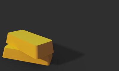 Obraz Sztabka złota, złoto - fototapety do salonu