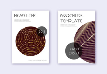 Fototapeta Trendy cover design template set. Gold abstract li obraz