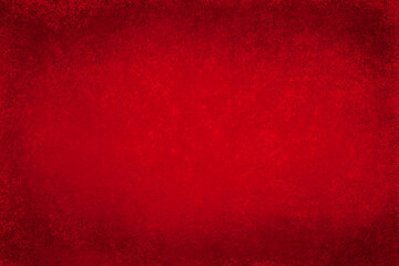 Obraz Red background with grunge texture, painted Christmas red background with vintage textured black grungy border, distressed old red antique paper or metal design - fototapety do salonu