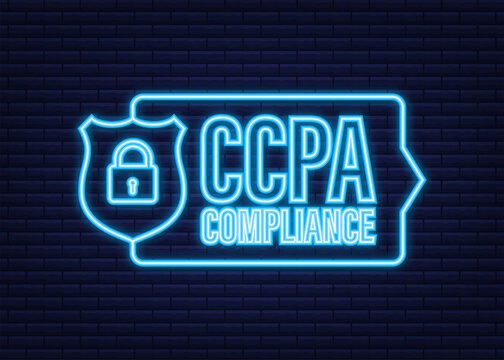 Ccpa, great design for any purposes. Security vector neonicon. Website information. Internet security. Data protection.