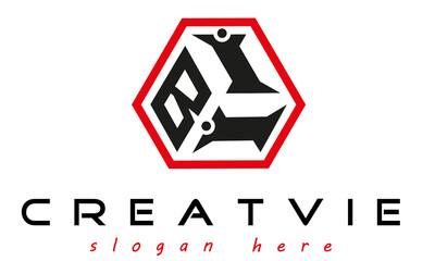 geometric monogram BII letter  logo  design vector, business logo, icon shape logo, stylish logo template