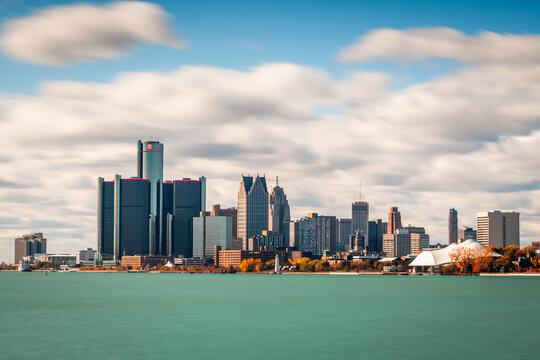 Detroit, Michigan, USA on the Detroit River