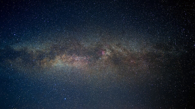 close-up detail from the milky way with stars field