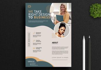 Fototapeta Business Flyer obraz