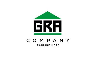 Obraz GRA three letter house for real estate logo design - fototapety do salonu