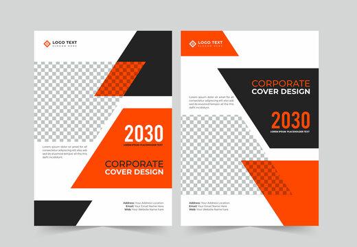 Corporate book cover design template or annual report template, brochure, magazine, poster, business presentation, business cover template design.