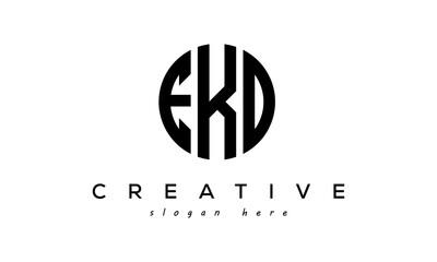 Letters EKO creative circle logo design vector