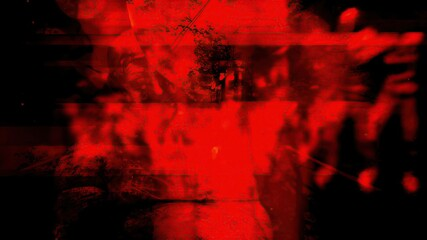 Obraz 3d illustration - Disturbing Horror Background - fototapety do salonu