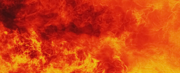 Obraz Background of fire. Symbol of hell and eternal torment - fototapety do salonu