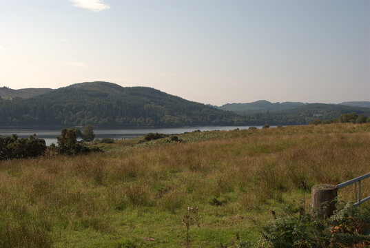 Loch Venachar in Trossachs in late summer