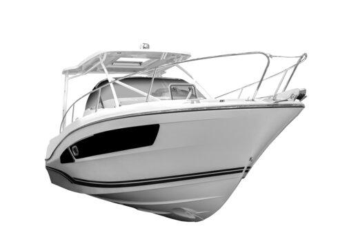 Motor boat isolated. on white background