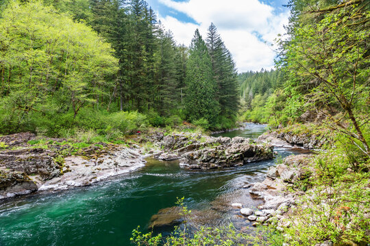 Rocky channel of the East Fork Lewis River.