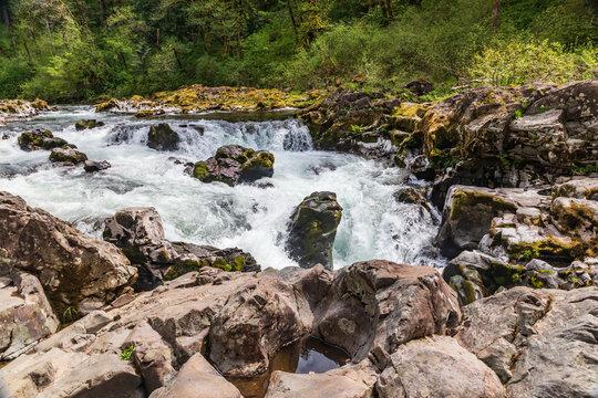 Moulton Falls on the East Fork Lewis River.
