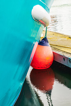 Detail of a fishing boat in Coos Bay, Oregon.