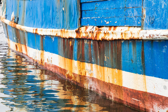 Rust on a fishing boat in Coos Bay, Oregon.