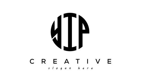 Letter YIP creative circle logo design vector