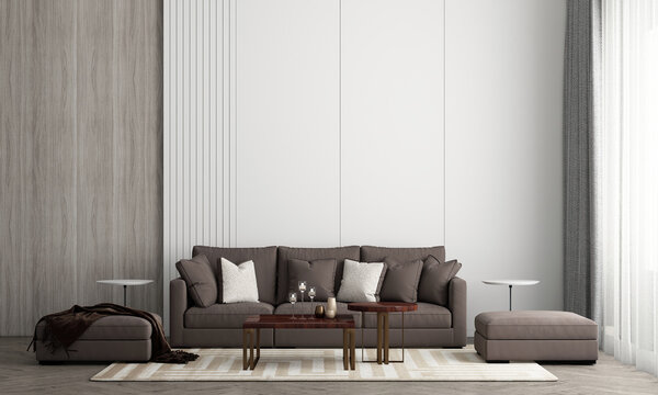 Modern living room interior design and texture wall background