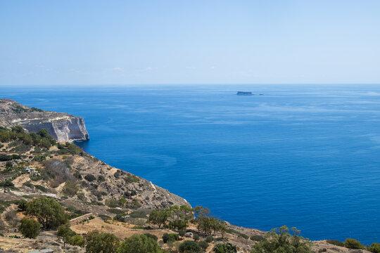 Landschaft mit Dingli-Klippen auf Malta