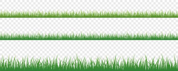 Obraz green grass meadow border vector pattern isoladet - fototapety do salonu